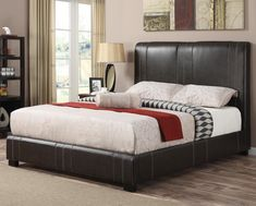 Coaster Upholstered Beds Twin Caleb Upholstered Bed in Dark Brown Faux Leather - Coaster Fine Furniture Discount Furniture, Online Furniture, Home Furniture, Quality Furniture, Furniture Removal, Furniture Companies, Furniture Stores, Bedroom Furniture, Bedroom Decor