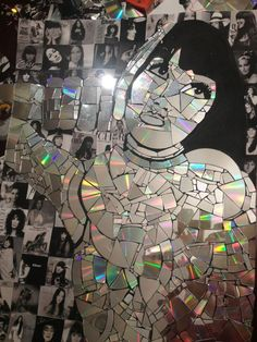 Broken CD mosaic by Cecilie Redding.