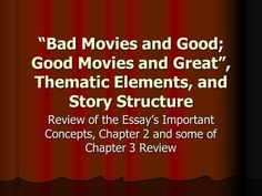 review essays on movies
