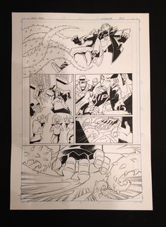 MIXMANCER (Page 3) - Tentacle attack! Original pencils by Carlos Trigo on a 210x420mm, 200g sheet. Back the Kickstarter to own!