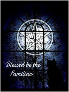 Blessings to All of Our Precious Familiars  Onyx )O(