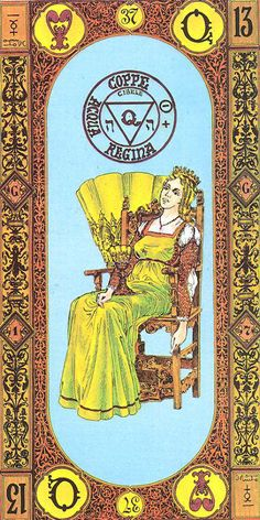 Queen of Cups - Tavaglione Tarot - The Stairs of Gold Tarot by Giorgio Tavaglione