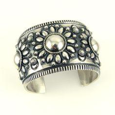 Silver Repousse Cuff
