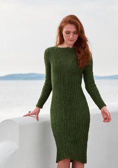 Free and Sleek Crochet Dresses Pattern Images and Design ideas Part 5 ; crochet dress for women; Sweater Dress Outfit, Knit Dress, Crochet Dresses, Dress Gloves, Mantel, Knitting Patterns, Knitting Dress Pattern, Knitwear, Look