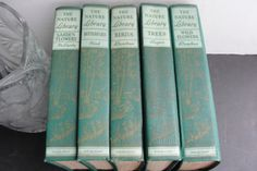 1926 Set of 5 vol. of The Nature Library series ( Birds, Garden Flowers, Wild Flowers, Butterflies ,Trees)- Publisher: Doubleday & Company.