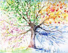 4 season tree paint