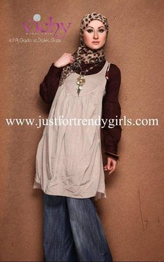 Here are a collection of a popular store in Egypt located in Giza called vichy presented trendy hijab clothing for women