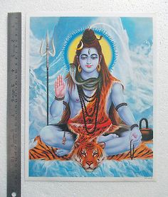 "Lord Shiva at Kailash Mountain - Normal Paper POSTER (9""x11"")"