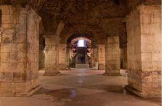 """El sótano bien conservado en el ala oeste del Palacio de Diocleciano y set de rodaje de la serie de televisión """"Juego de Tronos"""""""