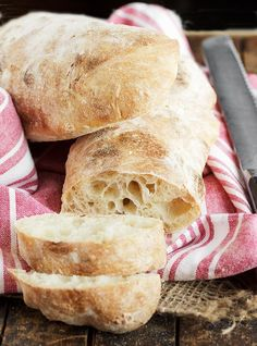 Weekend Baking: Ciabatta Bread - Seasons and Suppers Homemade Ciabatta Bread, Ciabatta Roll, Homemade Breads, Bread Bun, Bread Rolls, Bread Machine Recipes, Bread And Pastries, Artisan Bread, Donuts