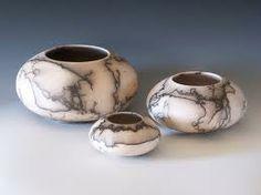 raku horse hair pottery
