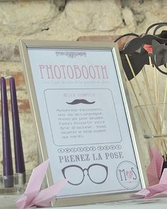 affiche pour photobooth ou photo cabine pour mariage anniversaire fete