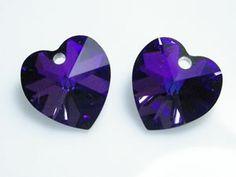 Austrian Swarovski Crystal Elements 6202/6228 Xilion Heart Pendant 18mm - Heliotrope Swarovski Crystal Beads, Faceted Crystal, Crystal Pendant, Wholesale Beads, Beading Supplies, Pendants, Gemstones, Sterling Silver, Heart