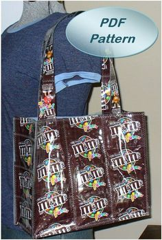 Pattern for candy wrapper tote crafts