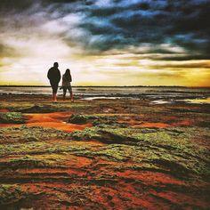 #victoria #australia #visitvictoria #visitmelbourne #pointlonsdale #rockshelf  #landscape #couple #visitaustralia #bellarine #bellarinepeninsula #portphillipbay #receedingtide by ashiltd http://ift.tt/1JO3Y6G