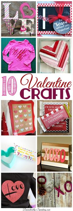 10 Valentine Crafts... Friday Features - Domestically Speaking