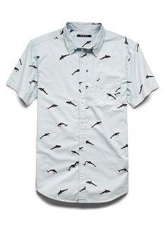 Dolphin Print Shirt | 21 MEN #21Men