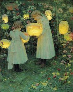1895 Luther Emerson Van Gorder (American, 1861–1931) ~ Japanese Lanterns.