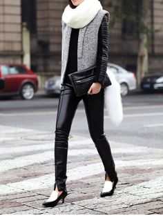 leather street style