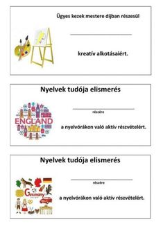 ELISMERŐ OKLEVELEK - tanitoikincseim.lapunk.hu Class Management, Classroom Management, Primary School, Pre School, Stay Young, Aktiv, Preschool Activities, Games For Kids, Student