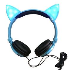 Foldable Flashing Glowing cat ear headphones Gaming Headset Earphone with LED light For PC Laptop Computer Mobile Phone Cat Ear Headset, Gaming Earphones, Cat Headphones, Electronics Projects, Mobile Marketing, Laptop Computers, Computer Laptop, Logitech, Led