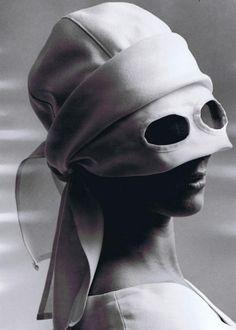 Saks Millinery, 1964 Photographer: Ed Pfizenmaier 1960s Fashion, Girls Be Like, Headgear, Vintage Beauty, Black And White Photography, Headpiece, Headdress, Portrait Photography, Veil