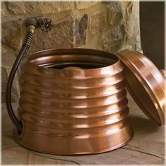 CobraCo® Beehive Copper Hose Holder And Lid Set Because Who Wouldnt Want  This Piece Of