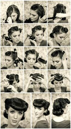 Kitten D'Amour Vintage hair tutorial