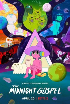 Trailers, images and poster for Netflix's new fantasy animated series THE MIDNIGHT GOSPEL created by Pendleton Ward and Duncan Trussell. Shows On Netflix, Netflix Series, Tv Series, Pendleton Ward, Netflix Original Series, Netflix Originals, Cool Cartoons, Best Tv Shows, Creations