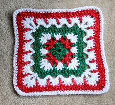 Crochet Granny Square Ideas Ravelry: Project Gallery for Autumn Leaves pattern by Janie Herrin - Christmas Crochet Patterns, Holiday Crochet, Granny Square Crochet Pattern, Afghan Crochet Patterns, Crochet Squares, Crochet Granny, Crochet Motif, Diy Crochet, Crochet Crafts