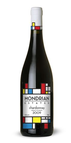 Mondrian Wine Label on Behance