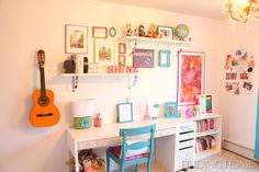 Tween/teen Bedroom -- close to what we've put together --we need more wall decor.