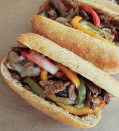 Dude Diet Philly Cheesesteak by domesticate-me #Sandwich #Cheesesteak #Light