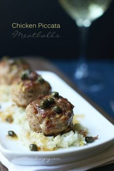 Chicken Piccata Meatballs – a Low Carb, Gluten Free, LCHF, Keto and Atkins Diet friendly meatball recipe.