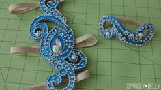 Armband & leg accessory with nude straps for belly dance