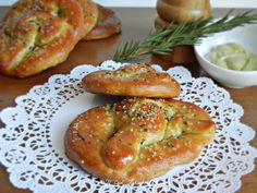 Rosemary Soft Pretzels! yum! I Love soft pretzels and the rosemary sounds yummy too!!