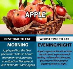 Eat Right. Check out the best times to eat this Foods! Healthy Food Choices, Healthy Tips, How To Stay Healthy, Apple Acid, Best Time To Eat, Fruit Benefits, Health Benefits, Organic Acid, Food Facts