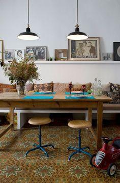 Tiles, stools, lamps, frames @ Barcelona