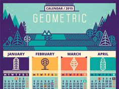 Calendar / 2015 [Geometric - recolored]