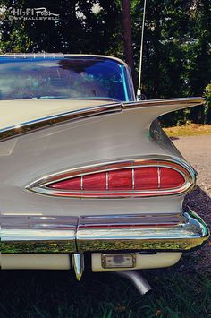 The magnificent behind of a 1959 Chevy Impala.