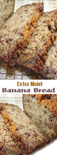 Extra Moist Banana Bread