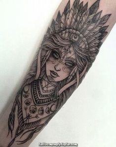 Skull Tattoos For Girls Ink – tattoos for women small Indian Women Tattoo, Indian Girl Tattoos, Indian Skull Tattoos, Paar Tattoos, Leg Tattoos, Body Art Tattoos, Tatoos, Animal Skull Tattoos, Skull Tattoo Flowers