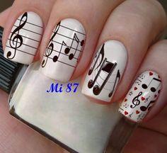 Nail art, nail designs - the love song music