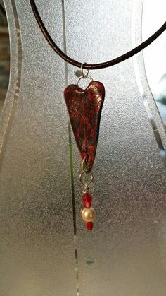 Heart clay pendant