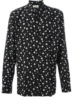 SAINT LAURENT Star And Moon Print Shirt. #saintlaurent #cloth #shirt
