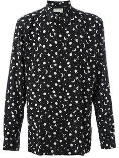 SAINT LAURENT Star And Moon Print Shirt. #saintlaurent #cloth #shirt