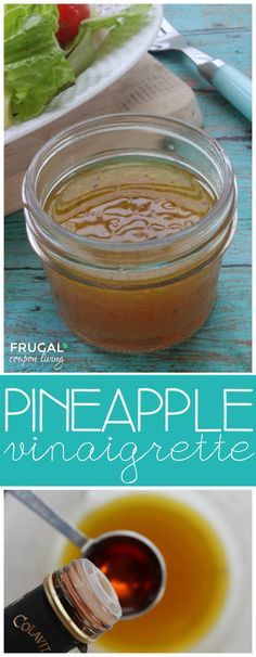 DIY Pineapple Vinaigrette Salad Dressing - a homemade dressing recipe on Frugal Coupon Living.