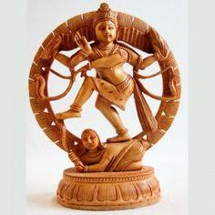 Statue Shiva Natraj bois 26cm sculptée en Inde http://www.merabarata.fr/idees-cadeaux/163-statue-shiva-natraj-bois-26-cm-inde.html