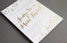 beautiful wedding invitations metallic foil