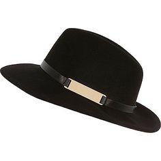 Chapeau fedora noir - Chapeaux - Accessoires - femme